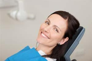 Woman in Exam Chair | Lake Erie Dental